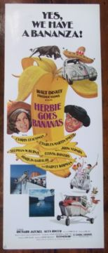 Herbie Goes Bananas, Insert Movie Poster, Cloris Leachman, Stephen Burns, '80